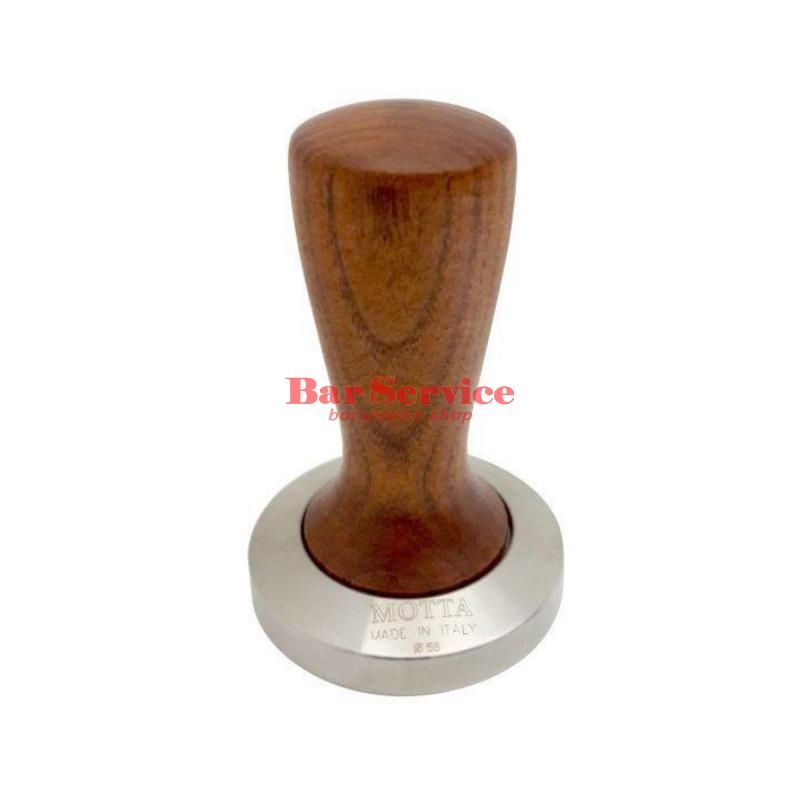 Темпер Мотта SLIM 58 мм. (плоский) рукоятка из дерева в Екатеринбурге
